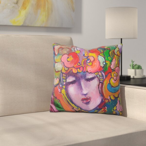 Lady Throw Pillow by East Urban Home