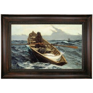 'The Fog Warning/Halibut Fishing 1885' by Winslow Homer Framed Print on Canvas by Historic Art Gallery