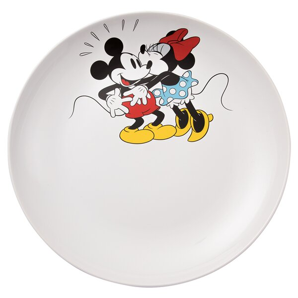Disney Mickey and Minnie Mouse Ceramic Serving Platter by Vandor LLC