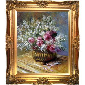 'Flowers in a Pot' by Claude Monet Framed Painting Print by Astoria Grand