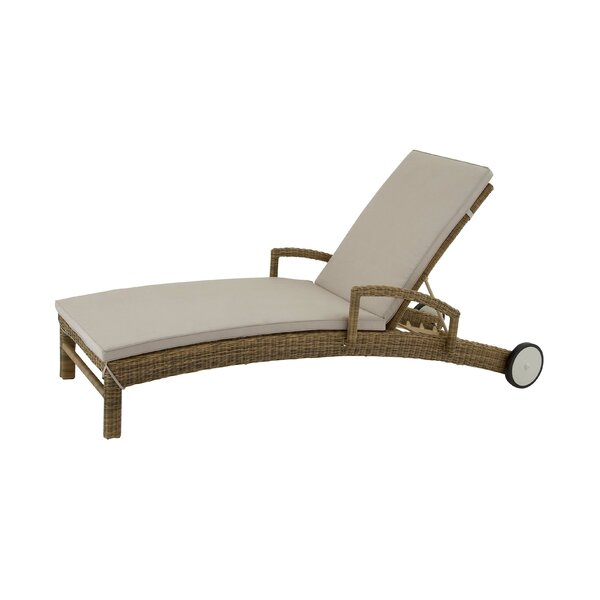 Chaise Lounge with Cushion by Cole & Grey