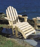 Cipriano Solid Wood Folding Adirondack Chair with Ottoman by August Grove