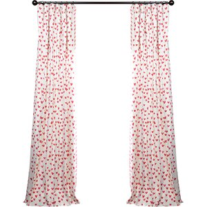 Murray Printed Cotton Rod Pocket Single Curtain Panel