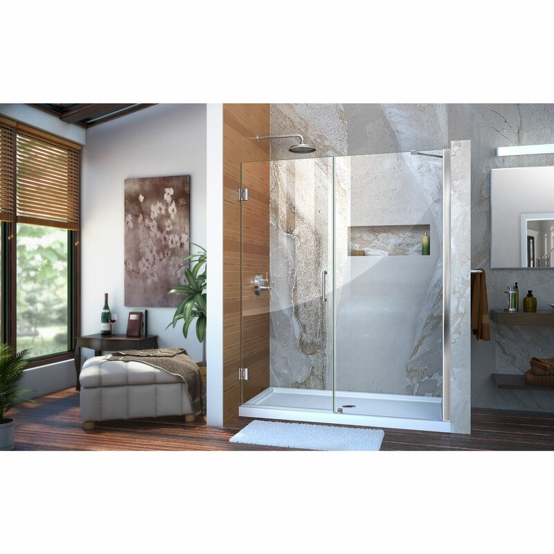 Unidoor 55\  x 72\  Hinged Frameless Shower Door with Clearmax™ Technology  sc 1 st  Wayfair : uni door - pezcame.com