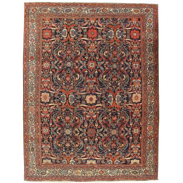 Antique Mahal Carpet Circa 1900, 9'4 x 12'5