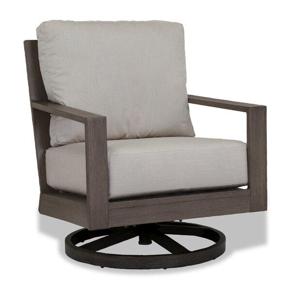 Laguna Canvas Flax Swivel Armchair with Cushion by Sunset West