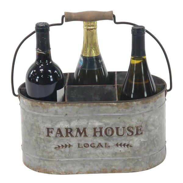 Saxton Farmhouse 6-Bottle Tabletop Wine Bottle Rack by Gracie Oaks