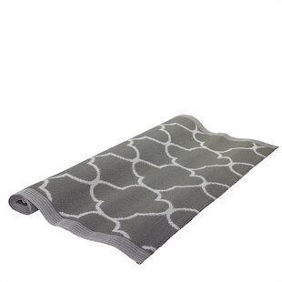 Savings Basic Luxury Jet Black/White Outdoor Area Rug By Northlight Seasonal