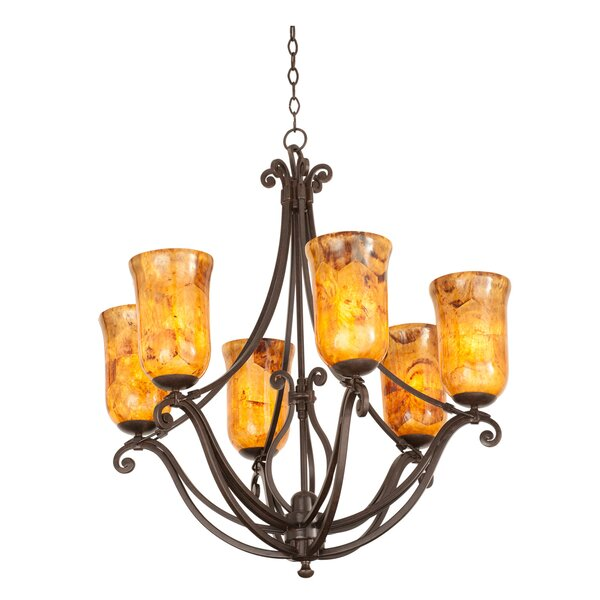 Somerset 6-Light Shaded Chandelier by Kalco