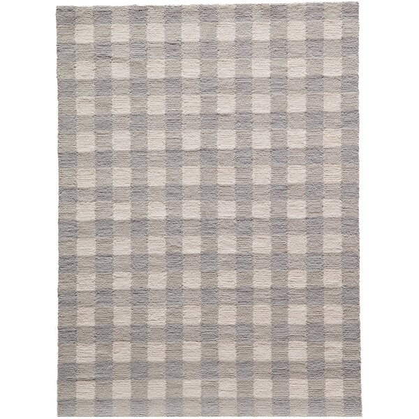 Violet Hand-Woven Gray Area Rug by August Grove
