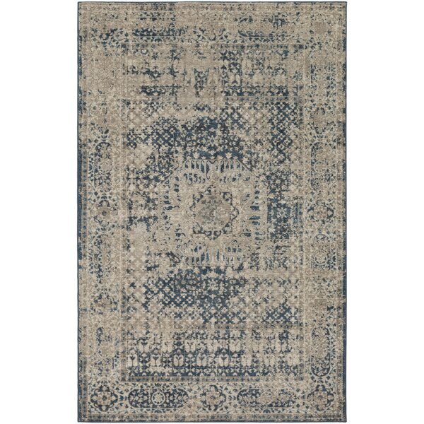 Ismael Navy/Cream Area Rug by World Menagerie