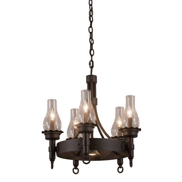 Greenbriar 5-Light Wagon Wheel Chandelier by Meyda Tiffany