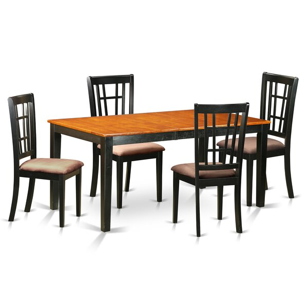 Cleobury 5 Piece Dining Set by August Grove August Grove