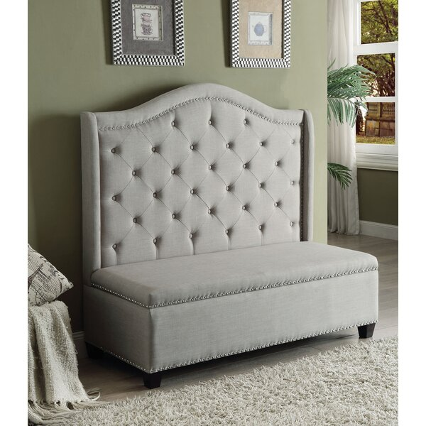 Heckson Upholstered Storage Bench by Alcott Hill