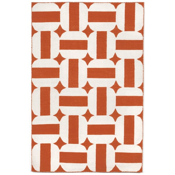 Assisi Paprika Circles Hand Woven Paprika Indoor/Outdoor Area Rug by Liora Manne