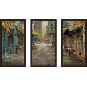 'Embracing City Charm' Framed Acrylic Painting Print Multi-Piece Image on Glass by Fleur De Lis Living