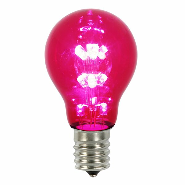 16W Pink E26 LED Light Bulb by Vickerman