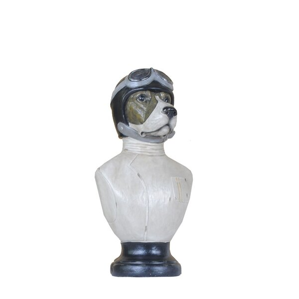 Jowers Dog Bust by Charlton Home