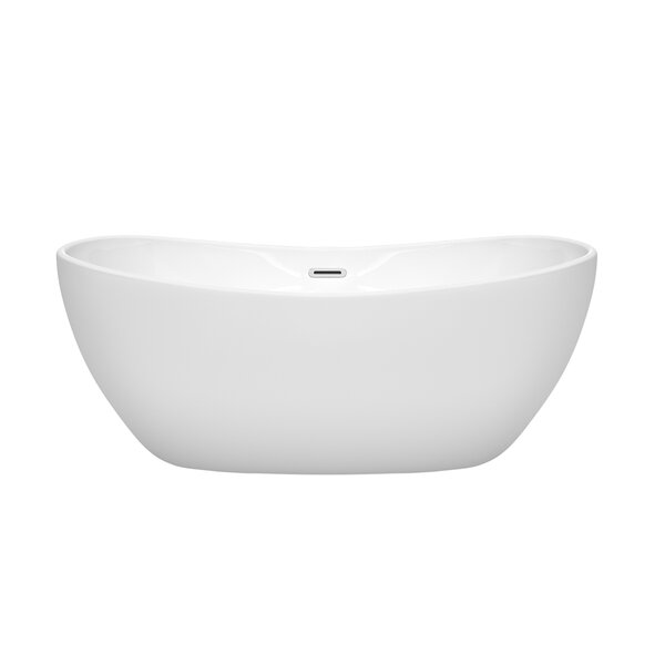 Rebecca 60 x 32 Freestanding Soaking Bathtub by Wyndham Collection