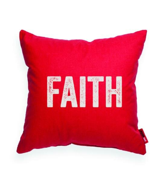 Pettis Faith Throw Pillow by Wrought Studio