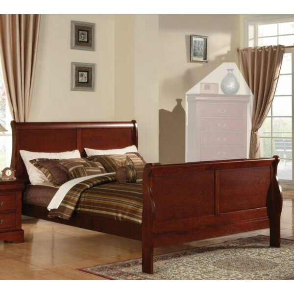Llorente King Sleigh Bed by Charlton Home