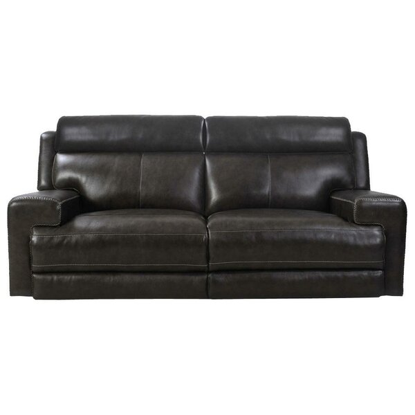 Home & Outdoor Gambrinus Leather Reclining Sofa