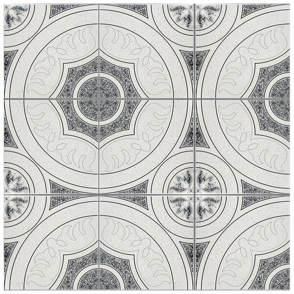 Massa 12.5 x 12.5 Ceramic Field Tile in White/Black by EliteTile
