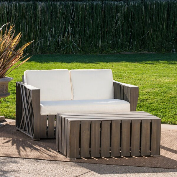 Winkelman 2 Piece Seating Group with Cushions by Gracie Oaks