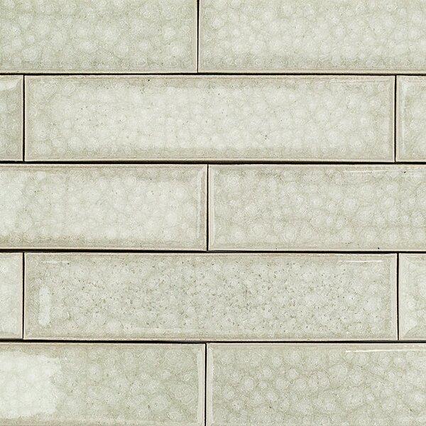 Roman Selection 2 x 8 Glass Subway Tile in Iced Light Cream by Splashback Tile
