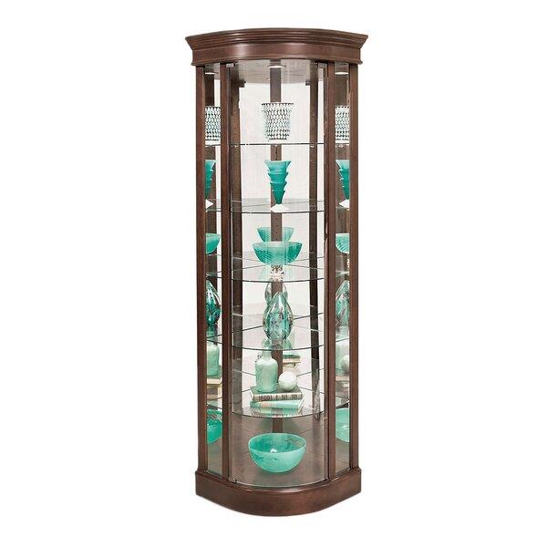 Galghard Lighted Corner Curio Cabinet by Charlton Home Charlton Home