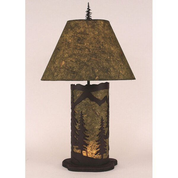 Mountain Scene 29 H Table Lamp with Empire Shade by Coast Lamp Mfg.