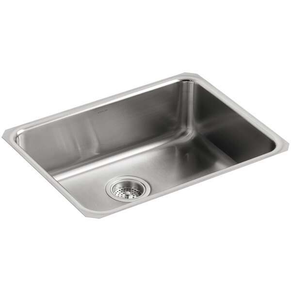 Undertone 23 L x 17-1/2 W x 7-5/8 Extra-Large Squared Under-Mount Single-Bowl Kitchen Sink by Kohler