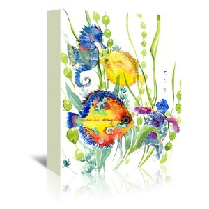 Seaworld  Painting Print on Wrapped Canvas by East Urban Home
