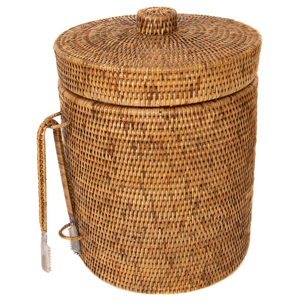 Tudor Rattan Ice Bucket by Breakwater Bay