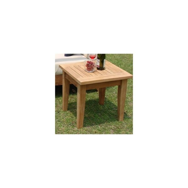 Maclachlan Grade A Atnas Square Teak Side Table by Highland Dunes