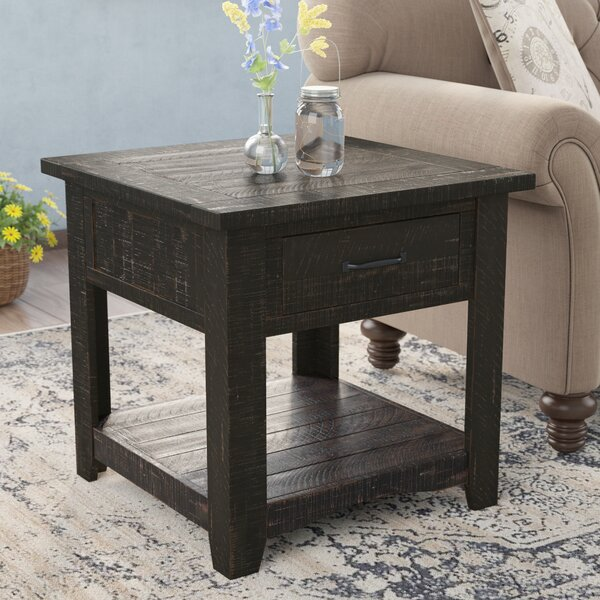 Soham End Table by Three Posts
