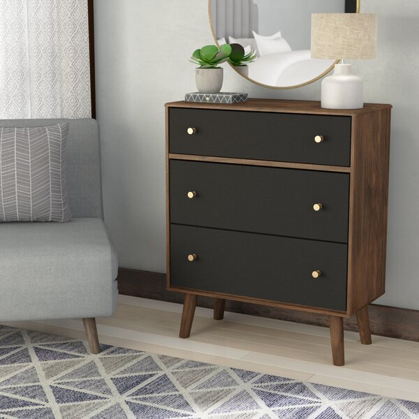 Lyndhurst 3 Drawer Chest by Gracie Oaks