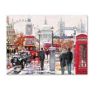 'London Collagex2 Copy' Print on Canvas by Trademark Fine Art
