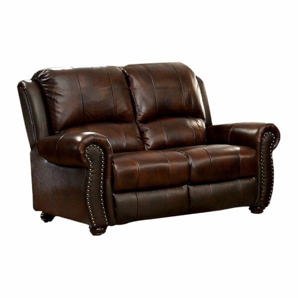 Bagshaw Leather Loveseat By Canora Grey
