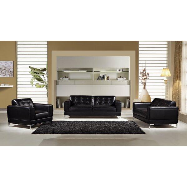 Italian Configurable 3 Piece Living Room Set by Orren Ellis