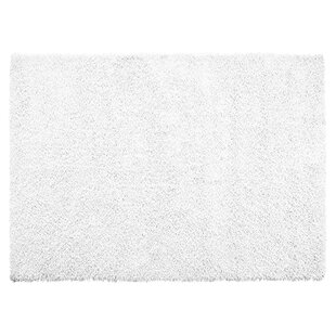 Top Reviews One-of-a-Kind Morrell Shag Silky Hand Woven White Are Rug By Latitude Run