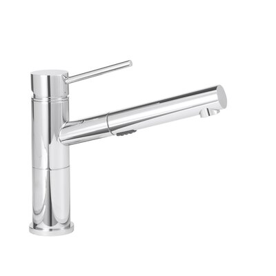 Blanco Alta Standard Pull Out Single Handle Kitchen Faucet Color: Polished Chrome