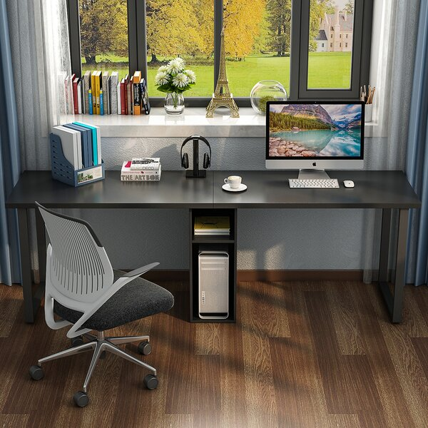 Olander Double Workstation Computer Desk by Ebern Designs