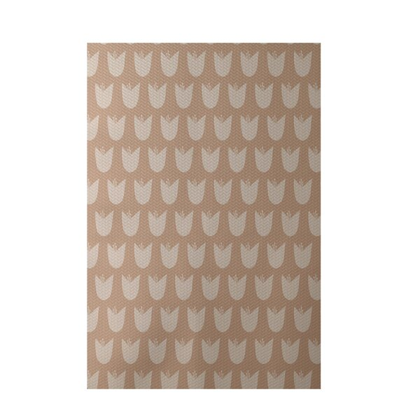 Floral Taupe Indoor/Outdoor Area Rug by e by design