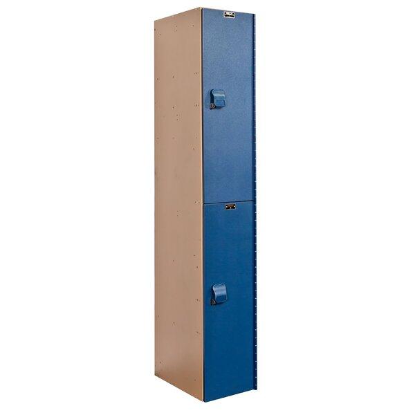 AquaMax 2 Tier 1 Wide School Locker by Hallowell