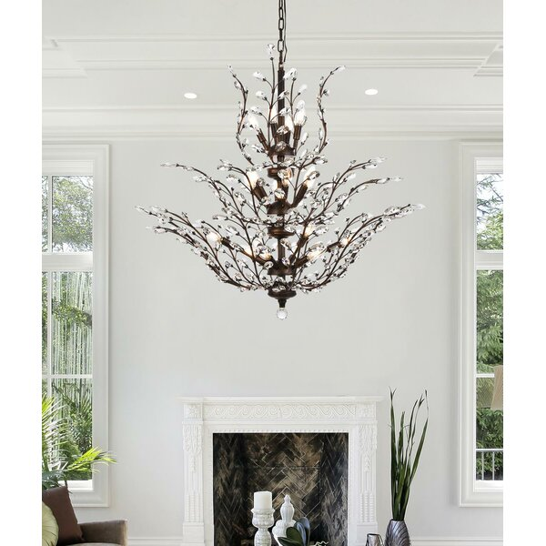 Lamons 18 - Light Unique/Statement Tiered Chandelier by House of Hampton House of Hampton