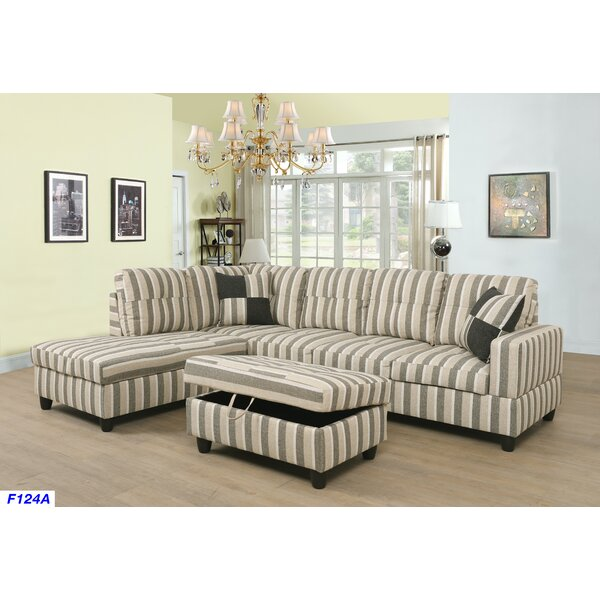 Justice Sectional with Ottoman by Ebern Designs