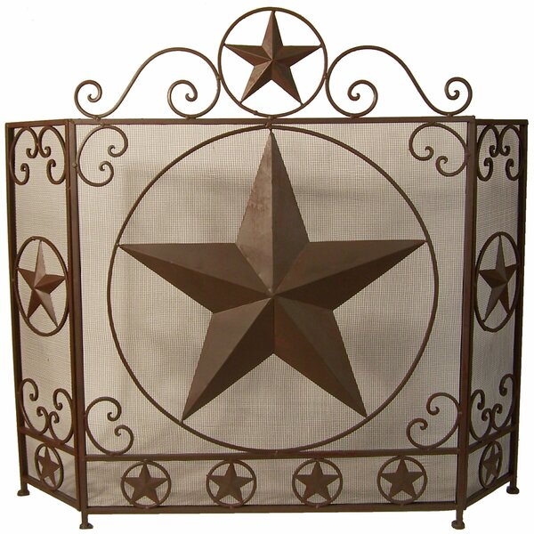 3 Panel Iron Fireplace Screen By De Leon Collections