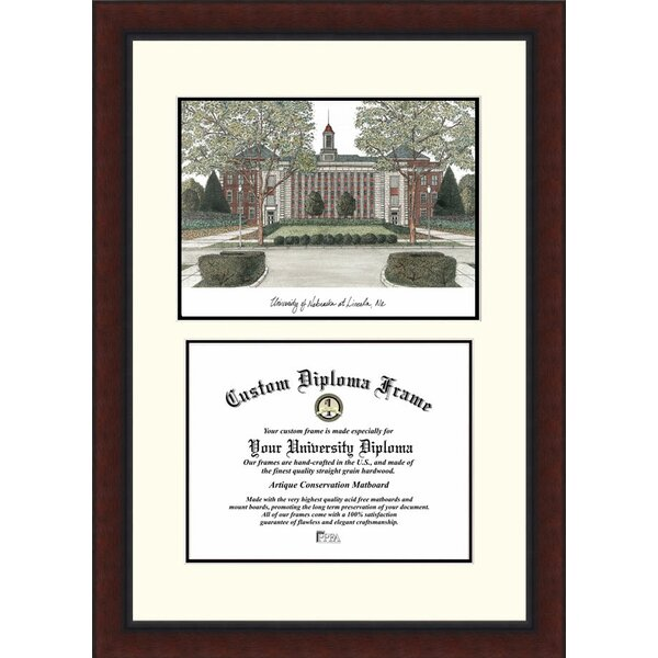 NCAA University of Nebraska Legacy Scholar Diploma Picture Frame by Campus Images
