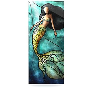 'Mermaid' by Mandie Manzano Graphic Art Print on Metal by East Urban Home